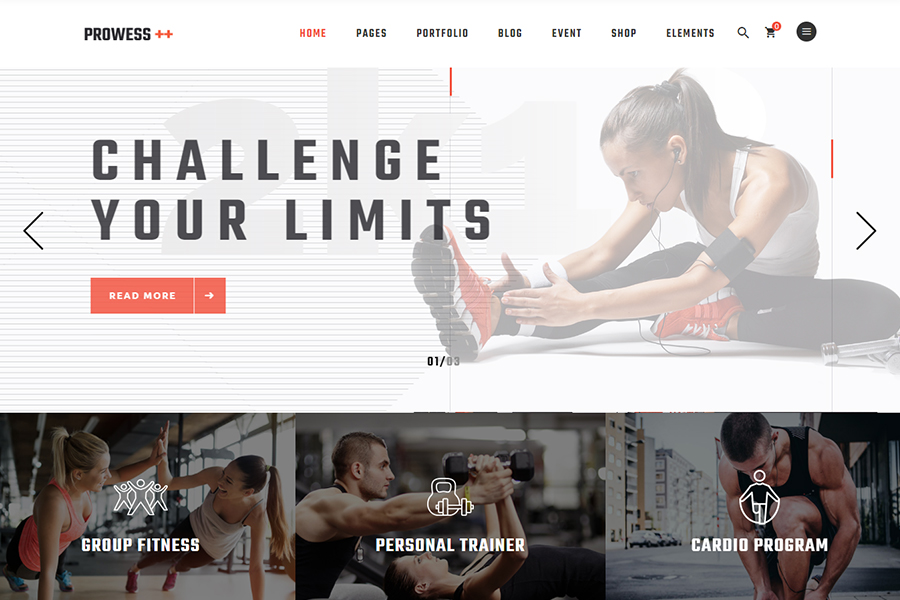 Prowess - Fitness and Gym Theme
