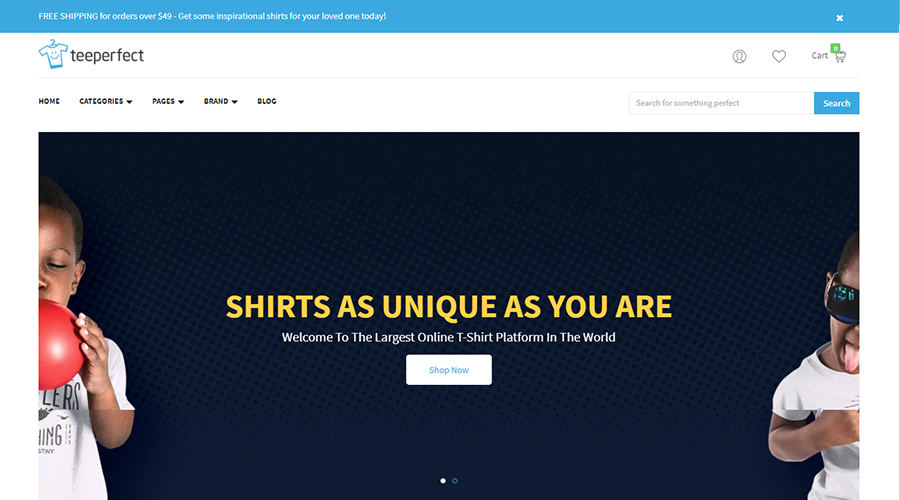 TeePerfect - The best choice for business T-shirts, Printed Products, Drop Shipping...Shopify Theme