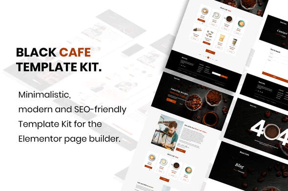 Black Cafe - Restaurant & Cafe Template Kit
