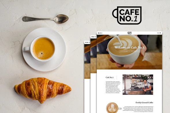 Cafe No.1 - Cafe & Restaurant Template Kit