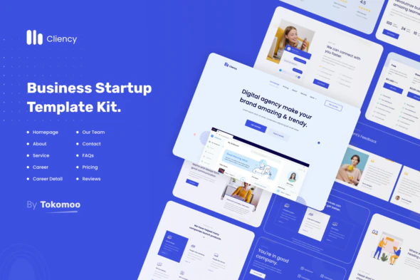 Clientcy - Business & Startup Elementor Template Kit