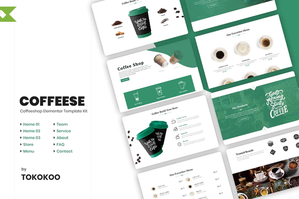 Coffesse | Coffee Shop Elementor Template Kit
