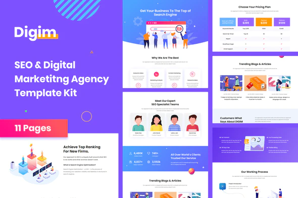 Digim - SEO & Digital Marketing Template Kit