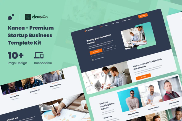 Kanca - Startup Business Consulting Elementor Template Kit