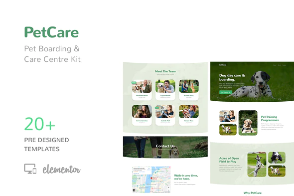 PetCare - Pet Boarding and Care Centre Template Kit