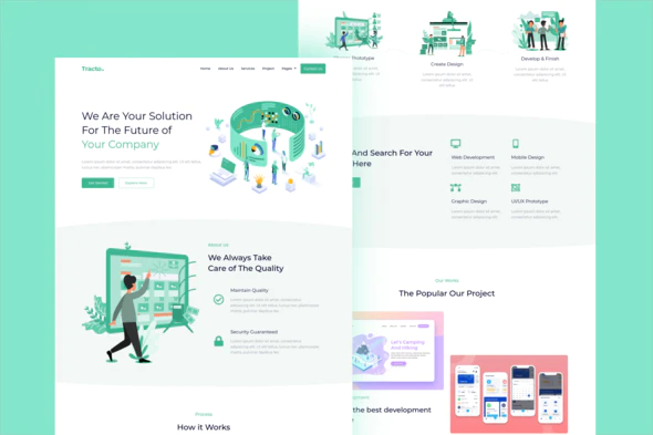 Tracto - Creative Agency Elementor Template Kit