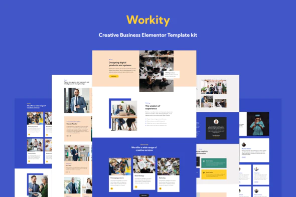 Workity- Creative Business Elementor Template kit