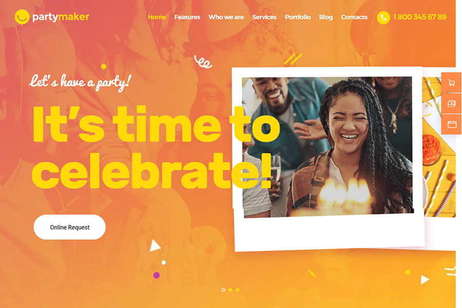 PartyMaker | Event Planner & Wedding Agency WordPress Theme