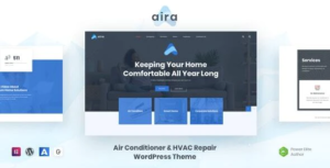 Aira - Conditioning & HVAC Repair WordPress