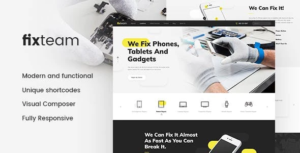 FixTeam | Electronics & Mobile Devices Repair WordPress Theme