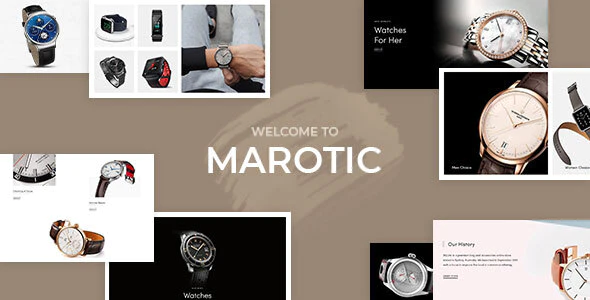 Marotic – Minimal & Clean Watch Store Shopify Theme