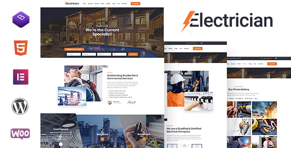 Electrician - Electricity Services WordPress Theme
