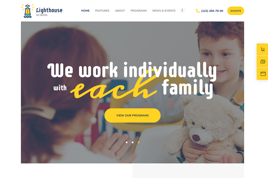Lighthouse   School for Handicapped Kids with Special Needs WordPress Theme