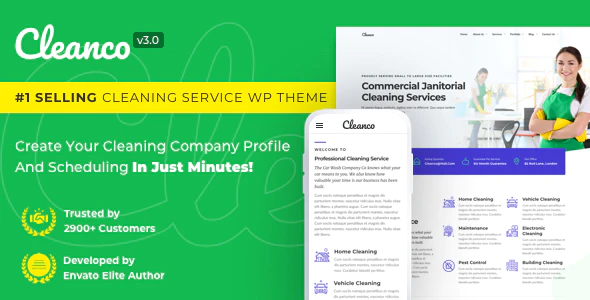 Cleanco 3.0 - Cleaning Service Company WordPress Theme