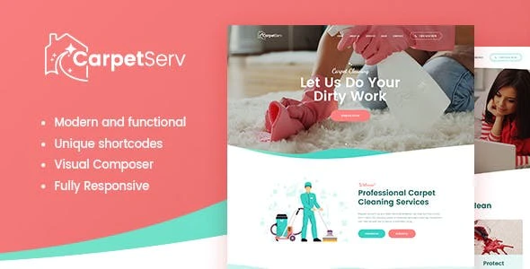 CarpetServ   Cleaning Company, Housekeeping & Janitorial Services WordPress Theme
