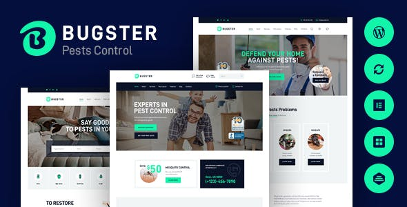 Bugster   Bugs & Pest Control WordPress Theme for Home Services