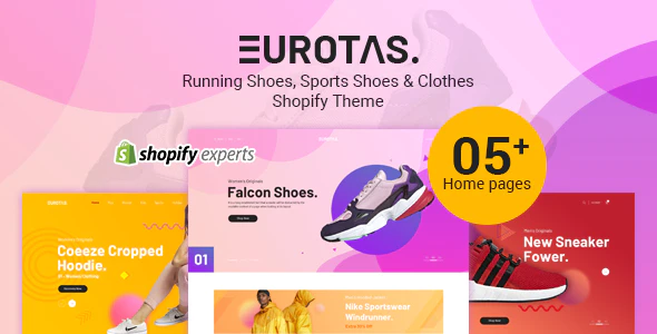 Eurotas – Running Shoes, Sports Shoes & Clothes Shopify Theme