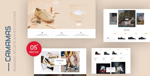 Camamas - Running Sports Shoes Clothes Shopify Theme
