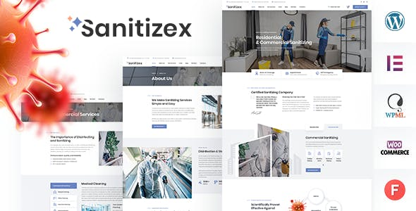Sanitizex - Sanitizing and Cleaning Services WordPress Theme