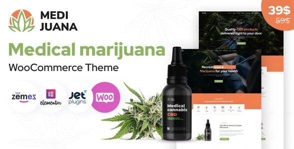 Medijuana - Medical Cannabis WordPress Theme