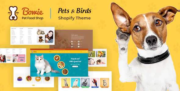 Bowie | Pets, Birds and Dogs Shopify Theme