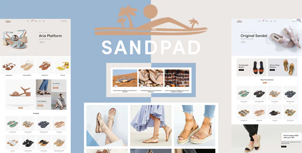 Sandpad - Sandals And Footwear Shoes Responsive Shopify Theme