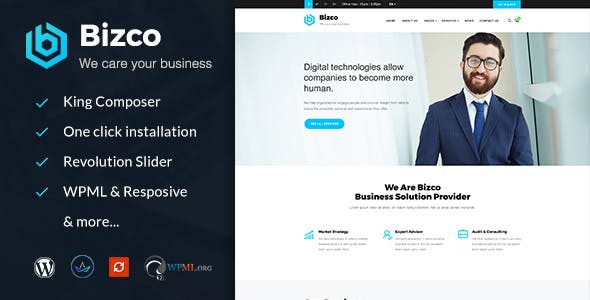 Bizco : Business Consulting and Professional Services WordPress Theme